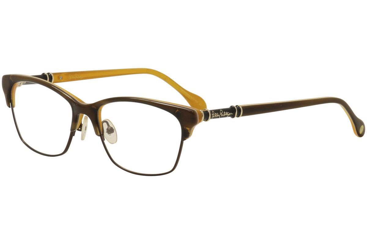 Image of Lilly Pulitzer Women's Eyeglasses Ashby Full Rim Optical Frame - Tortoise/Monaco   MN  - Lens 52 Bridge 16 Temple 140mm