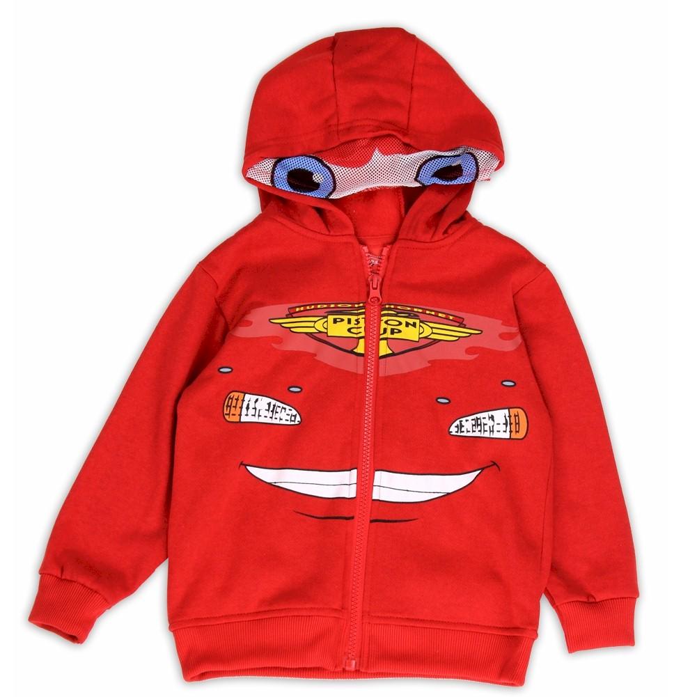 Image of Disney Pixar Cars Toddler Boy's Lightening McQueen Full Zip Hoodie - Red - 2T