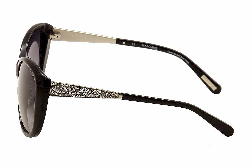 Image of Guess By Marciano Women's GM722 GM/722 Cat Eye Sunglasses - Black - Lens 58 Bridge 17 Temple 135mm