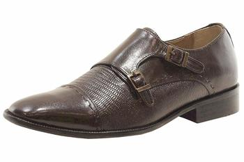 Giorgio Brutini Men's Jotham Leather Monk-Strap Loafers Shoes