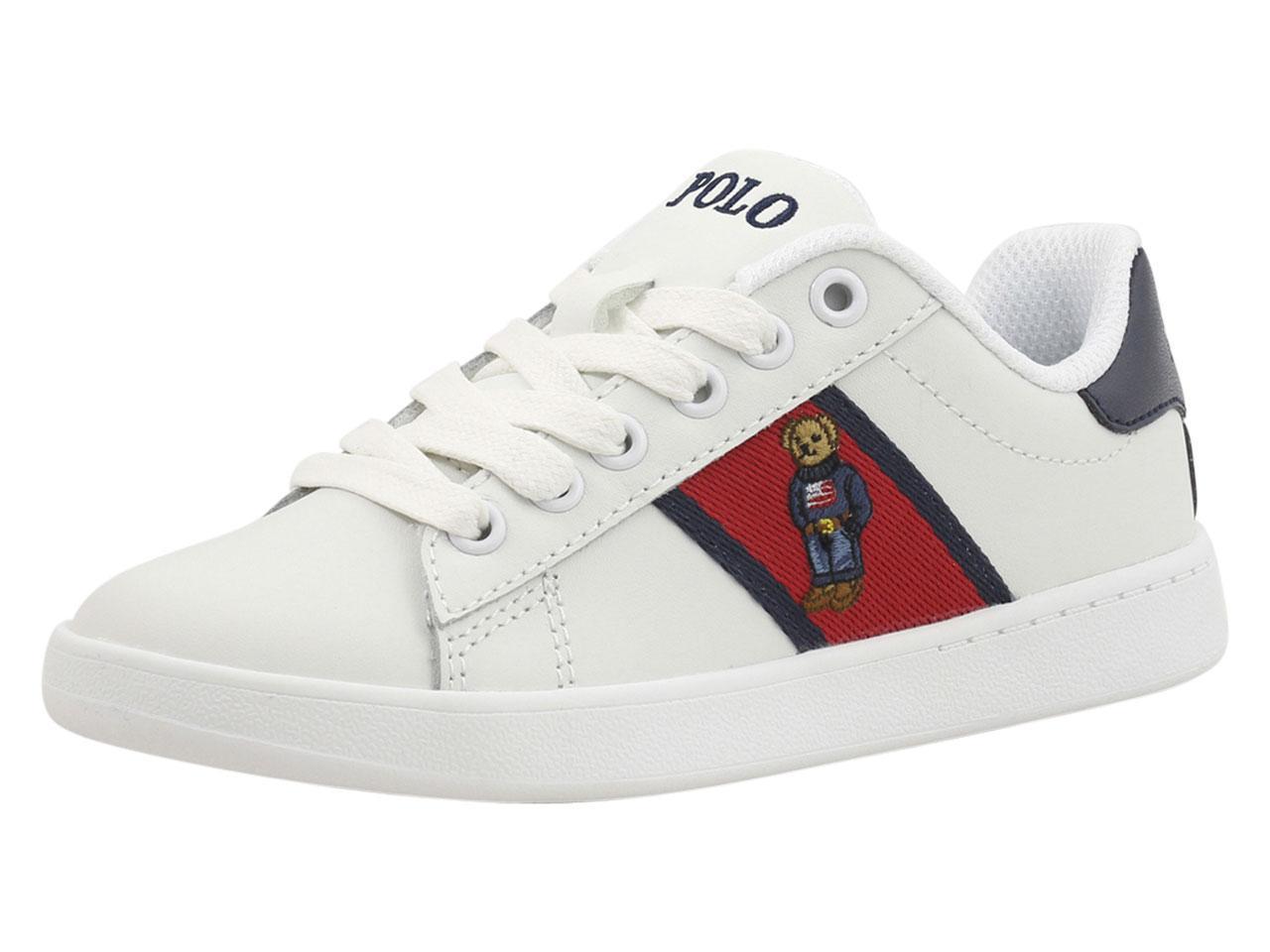 3bf0cf5a76a Polo Ralph Lauren Little Big Boy s Quilton Bear Sneakers Shoes