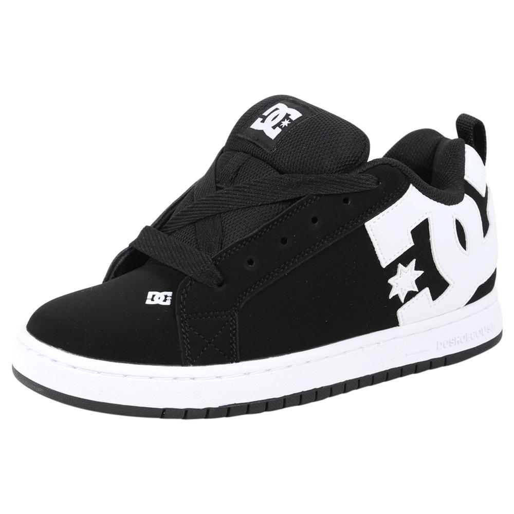 Image of DC Shoes Men's Court Graffik Skateboarding Sneakers Shoes - Black Suede - 10 D(M) US