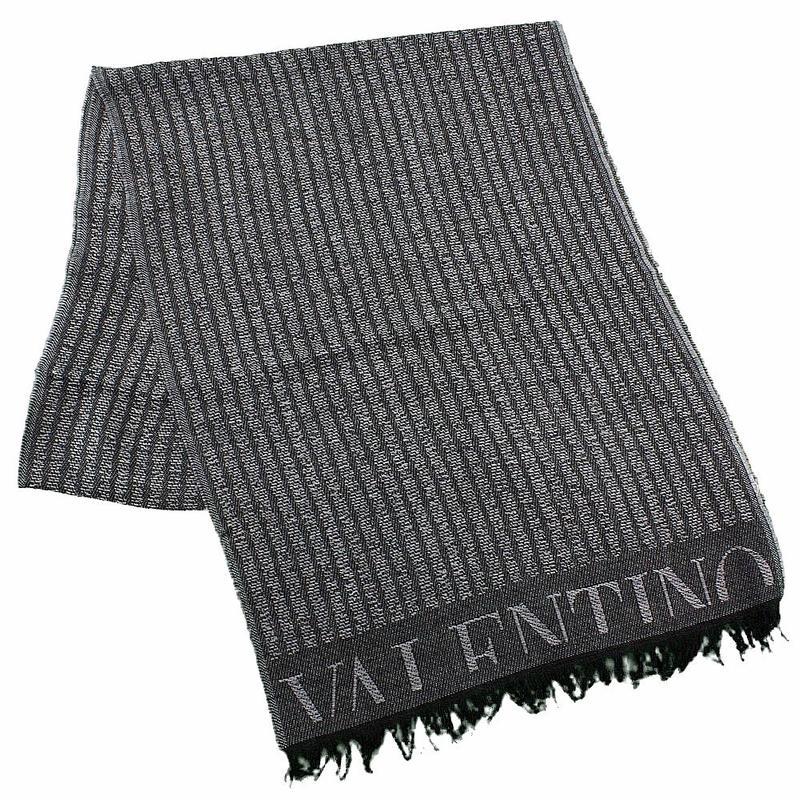 Valentino Men s Sciarpa Fringe Wool Winter Scarf