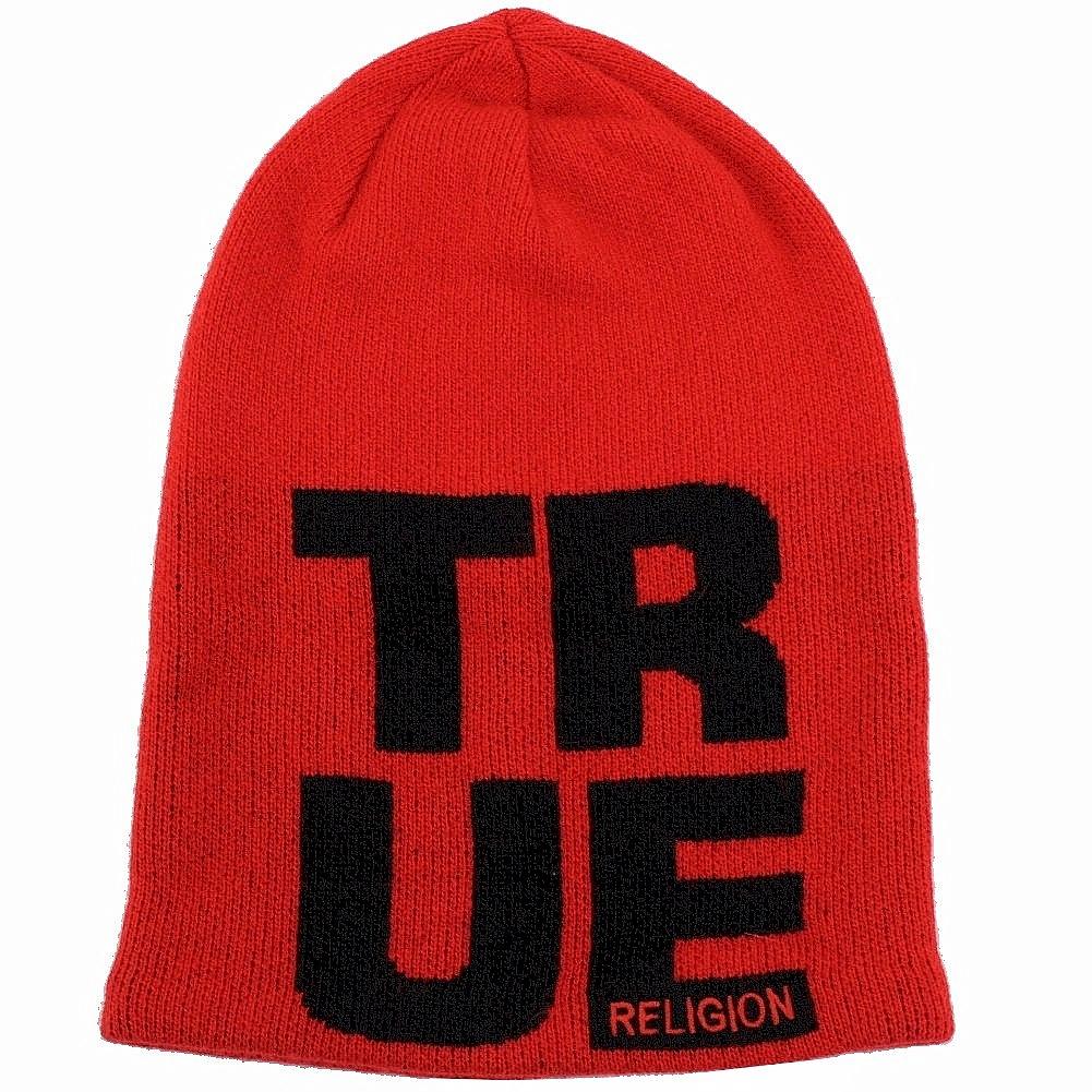 7b2fca3f82051 True Religion Men s Slouchy Beanie Hat (One Size Fits Most)
