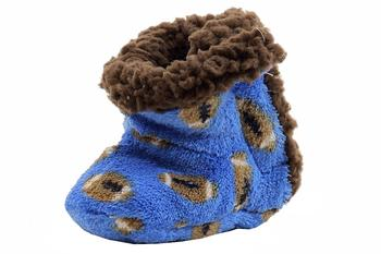 Skidders Infant Boy's Football Toss Plush Booties Slippers Shoes UPC: