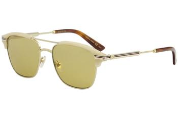Gucci Men's GG0241S GG/0241/S Fashion Pilot Sunglasses