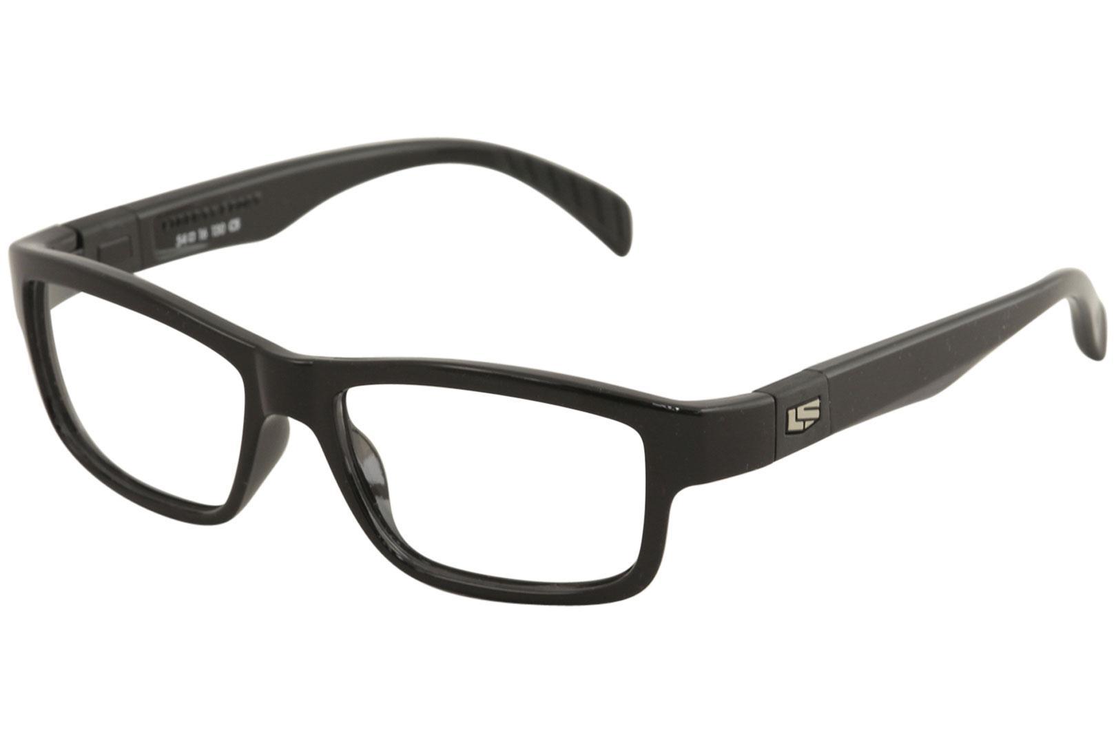 Image of Liberty Sport Men's Eyeglasses X8 100 Full Rim Optical Frame - Shiny Black   203 - Lens 54 Bridge 16 Temple 130mm