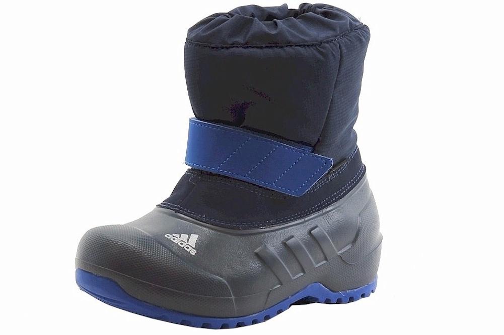 Image of Adidas Boy's Winterfun Boy Primaloft K Snow Boots Shoes - Blue - 13   Little Kid