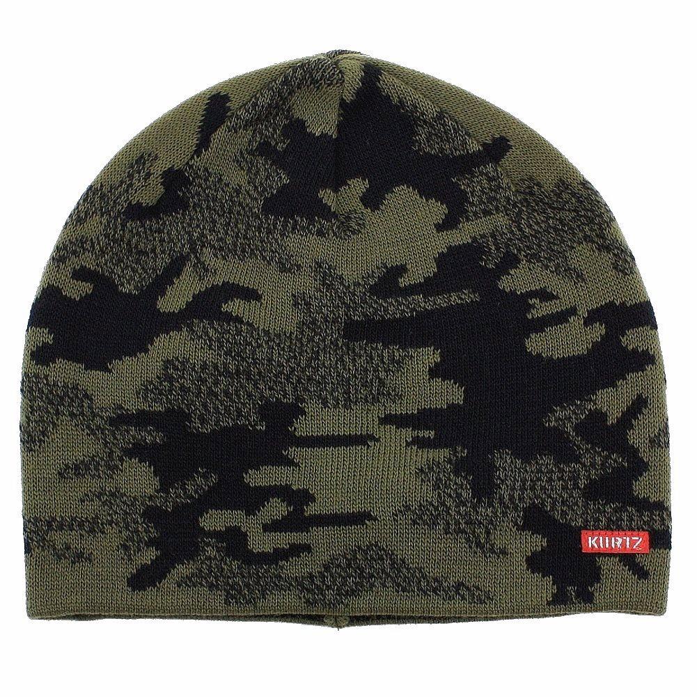 Image of Kurtz Men's Battle Camo Beanie AK380 Knit Beanie Hat (One Size Fits Most) - Green