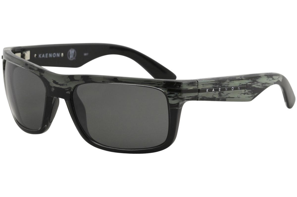 Image of Kaenon Burnet 017 Polarized Fashion Sunglasses - Deep Ocean Black/Grey SR 91 Polarized 12%   G120 - Lens 57 Bridge 19 Temple 125mm