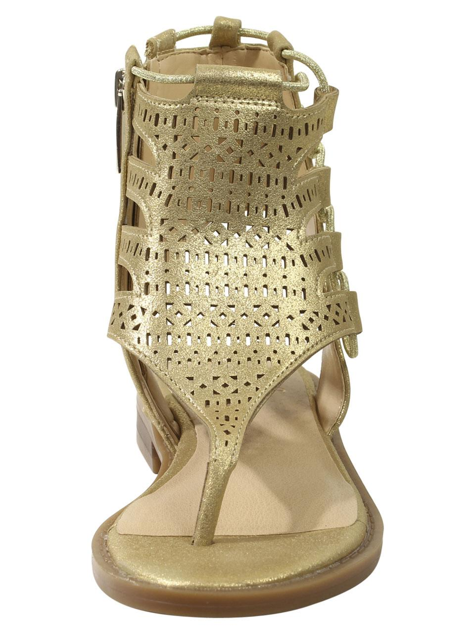 0909682cad98 Vince Camuto Little Big Girl s Juli Perforated Gladiator Sandals Shoes by Vince  Camuto