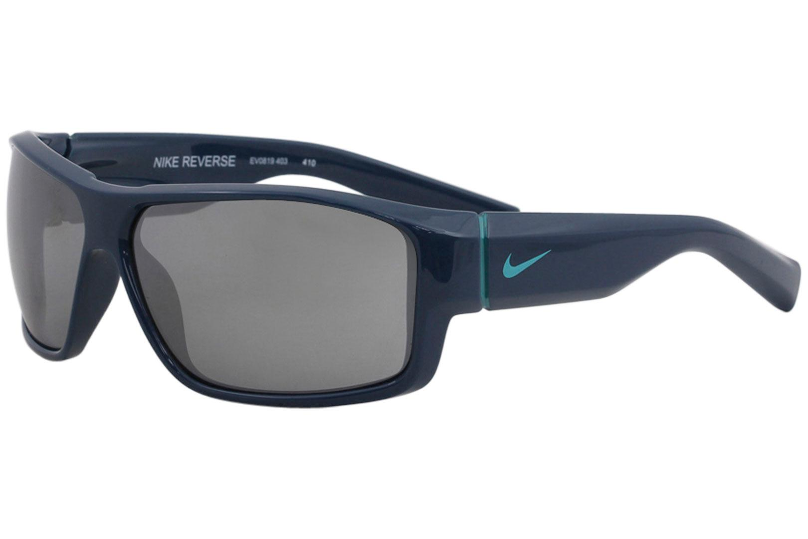 Nike Youth Reverse EV0819 EV/0819 403 Space Blue/Hyper Jade Rectangle Sunglasses