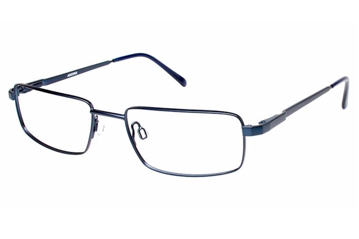Image of Aristar By Charmant Men's Eyeglasses AR16204 AR/16204 Full Rim Optical Frame - Blue - Lens 53 Bridge 18 Temple 140mm