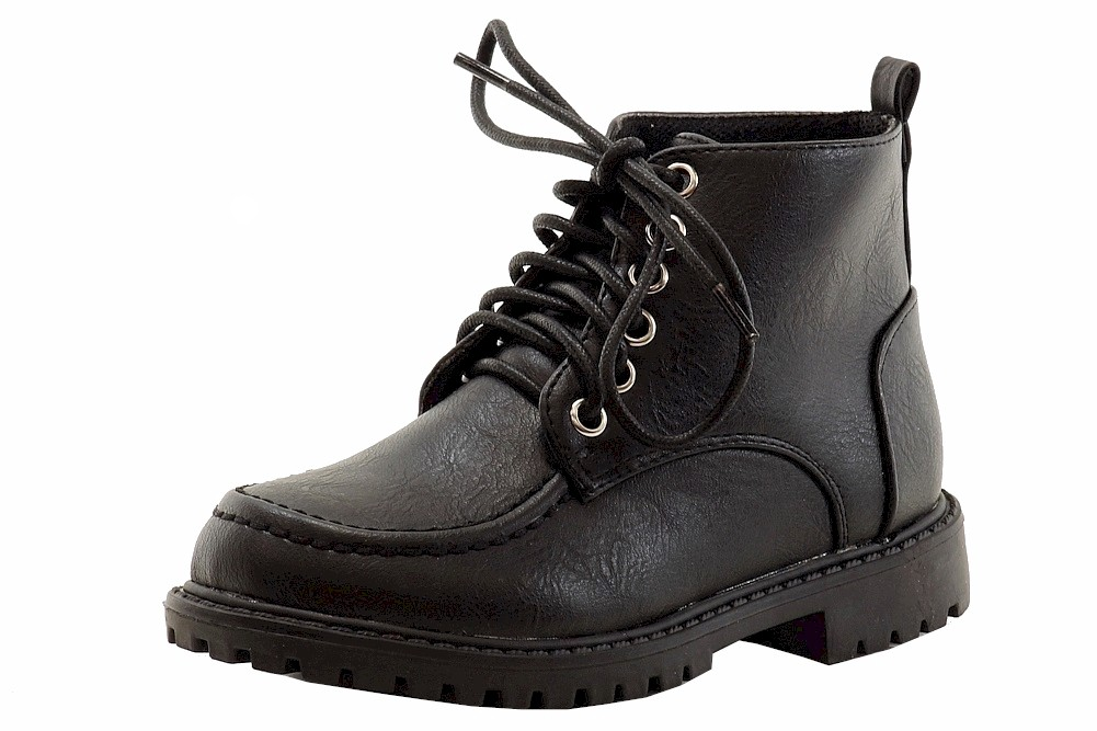Image of Easy Strider Boy's Bostwick School Uniform Boots Shoes  - Black - 10 M US Toddler