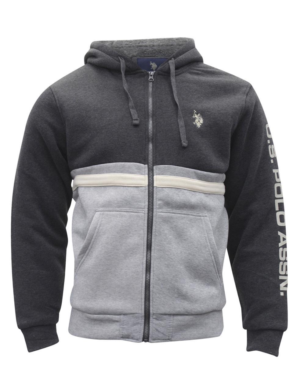 Polo Association Men/'s Basic Zip Front Hooded Vest U.S