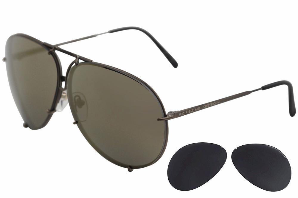 37985cba2cf Porsche Design P8478 P 8478 Round Sunglasses W Extra Lenses