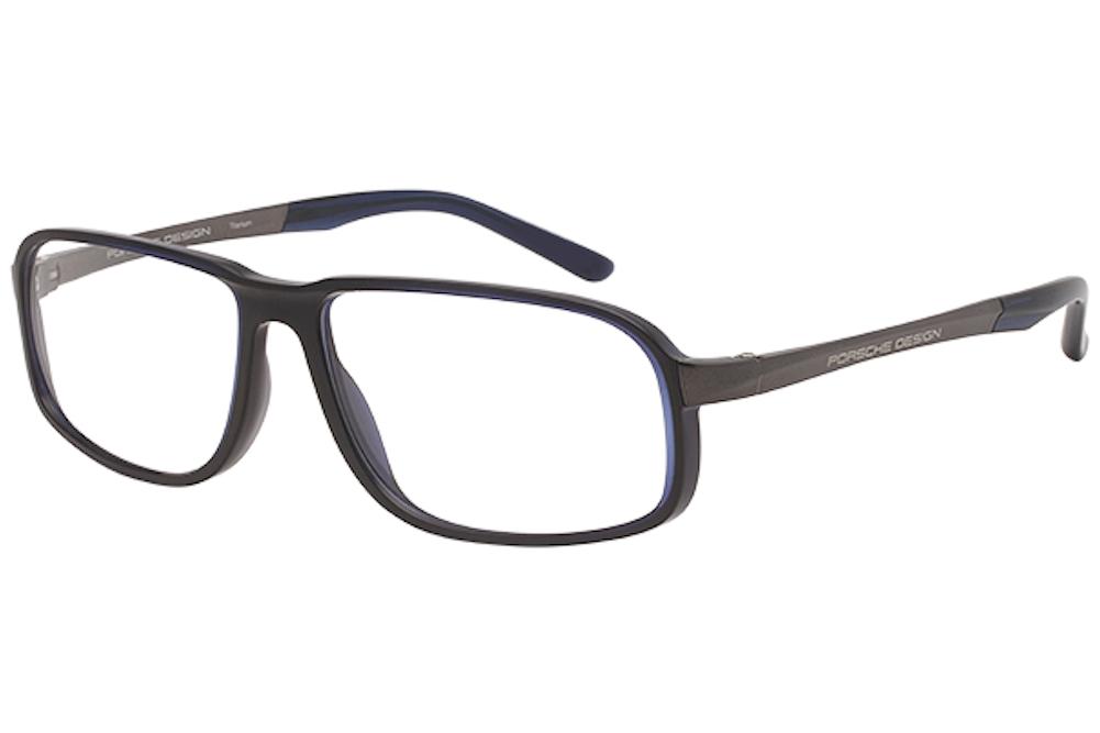 Image of Porsche Design Men's Eyeglasses P'8229 P8229 Full Rim Optical Frame - Blue - Lens 57 Bridge 14 Temple 140mm