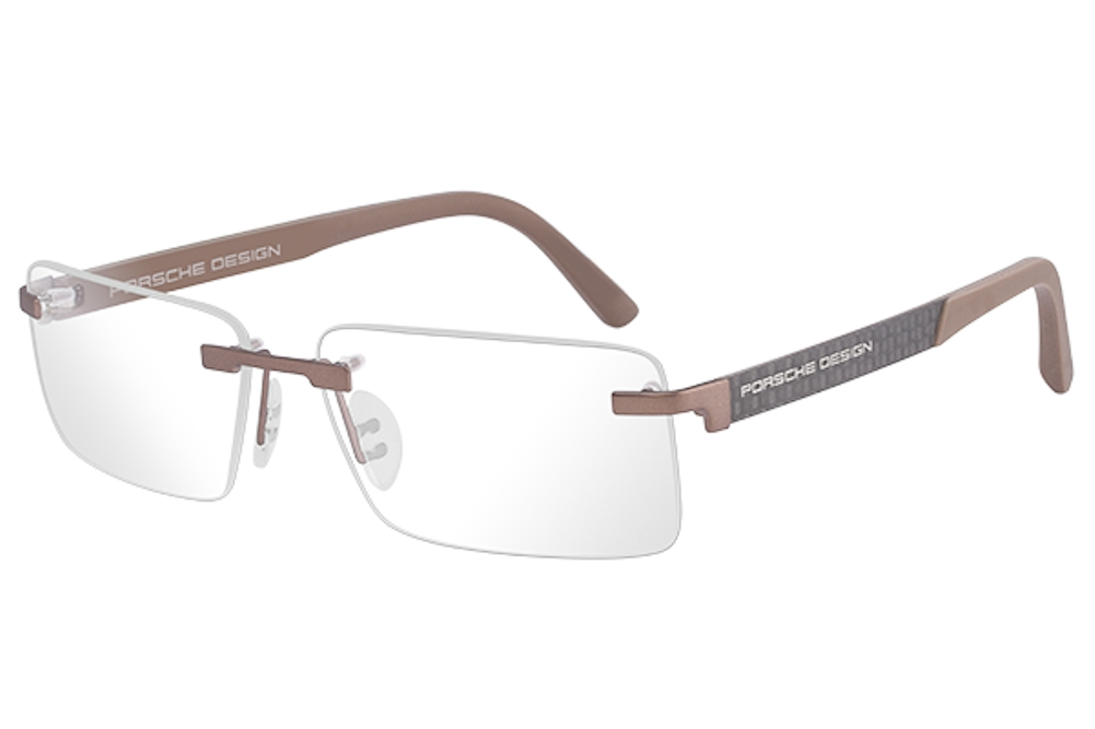 e6b23929931 Porsche Design Men s Eyeglasses P 8236 P8236 S2 Rimless Optical Frame