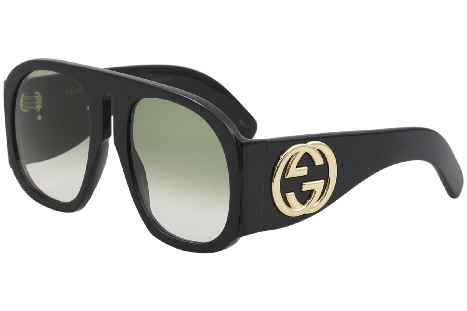 Gucci Women s GG0152S GG 0152 S Fashion Pilot Sunglasses 38602e9e2f