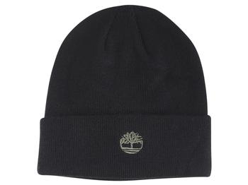 Timberland Men's Contrast Logo Knit Beanie Hat