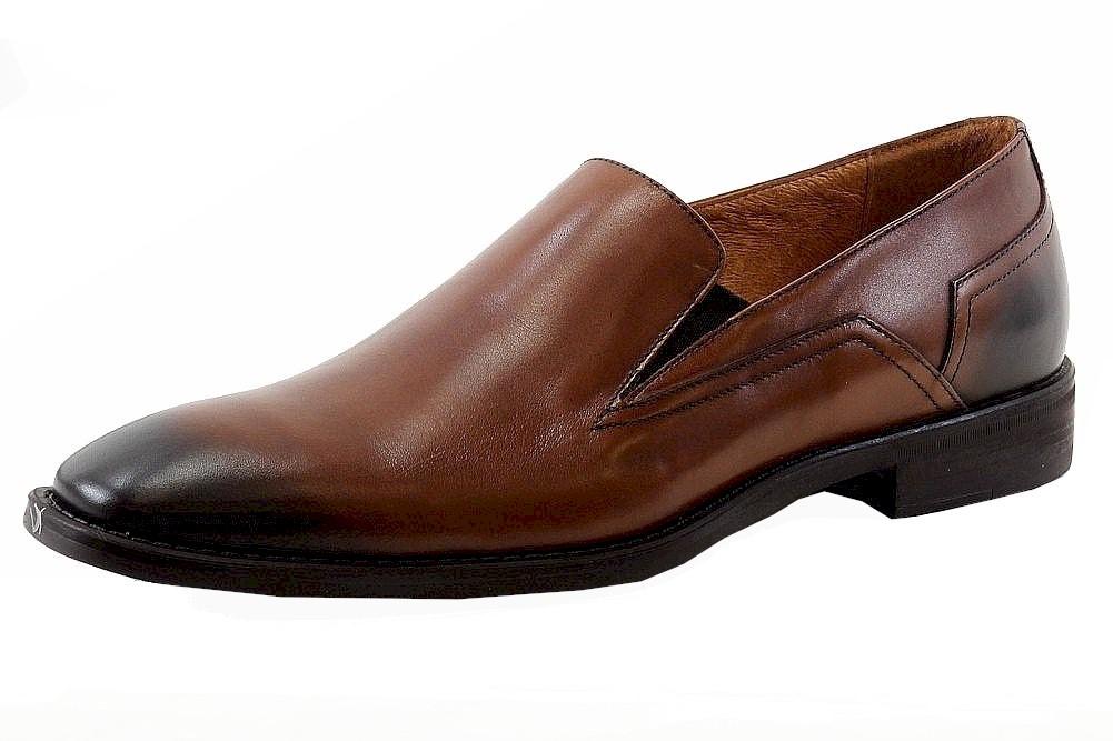 Image of Donald J Pliner Men's Broy 06 Leather Loafers Shoes - Brown - 9.5