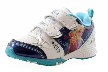 7c3522a9260a Disney Frozen Toddler Girls White Blue Fashion Light Up Sneakers Shoes
