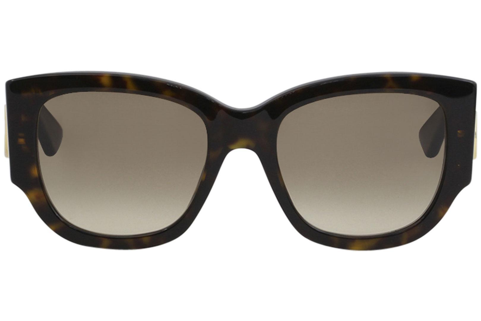 9200ff724 Gucci Women's GG0276S GG/0276/S Sensual Romantic Retro Square Sunglasses by  Gucci