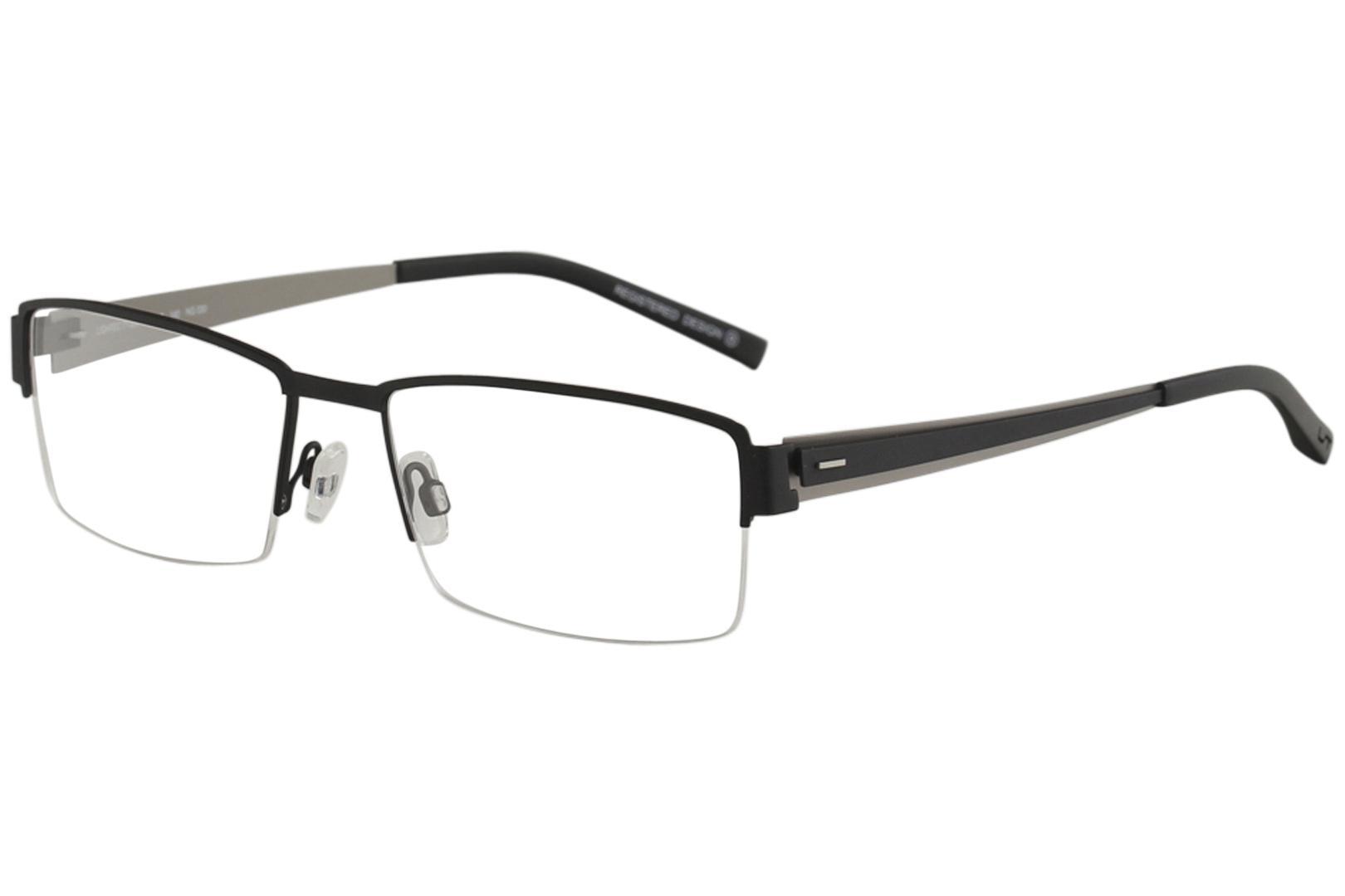 Morel Men\'s Eyeglasses Lightec 7132L 7132/L Half Rim Optical Frame