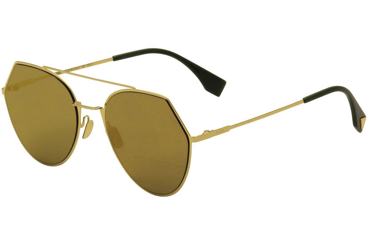 Fendi Women's FF0194S FF/0194/S Aviator Fashion Sunglasses