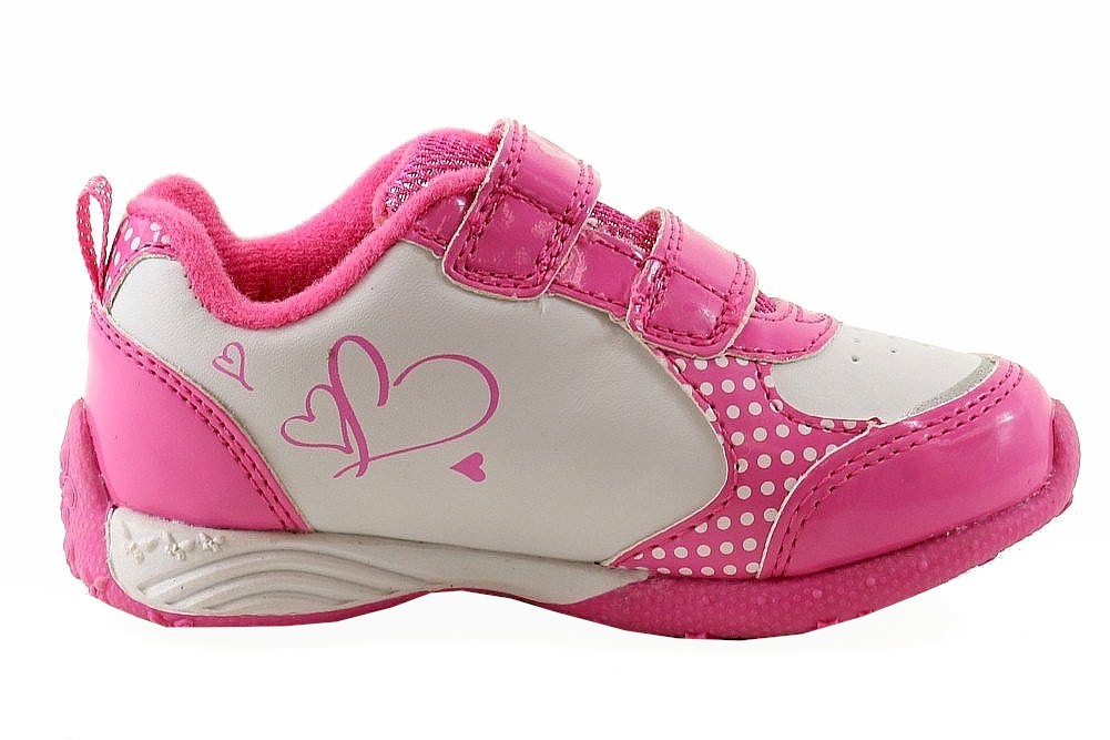 43052ed029a4 Disney Minnie Mouse Toddler Girl s White Fuchsia Light Up Sneakers Shoes by  Disney