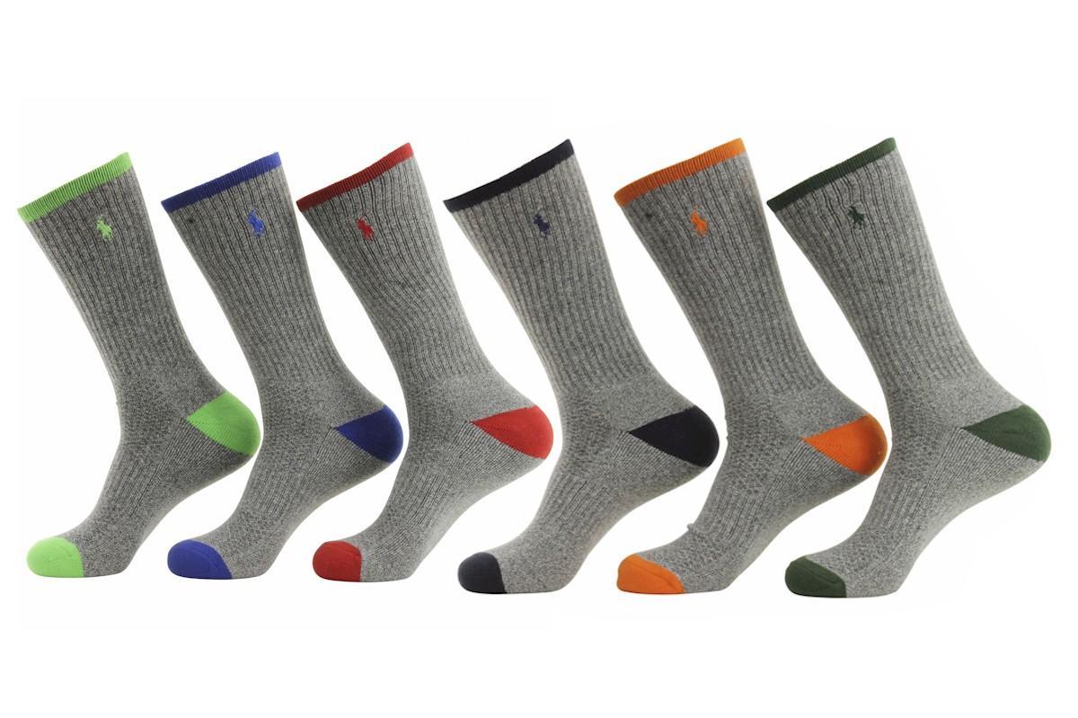 0de78f7d7c1 Polo Ralph Lauren Men s 6-Pack Technical Sport Crew Socks