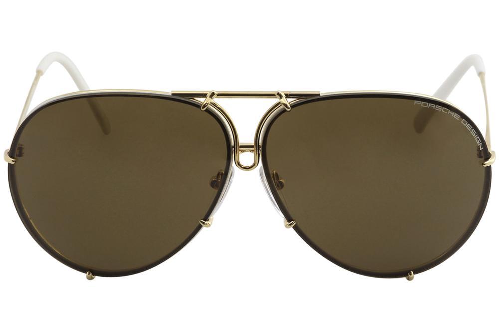 54578f729f Porsche Design Sunglasses P8478 8478 W Gold Interchangeable Lenses ...