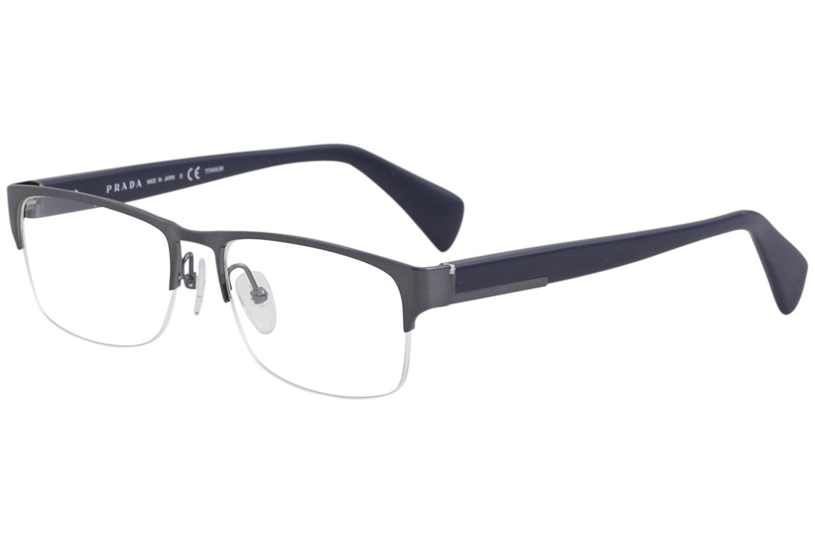 774ecb18976c Prada Men s Eyeglasses VPR52R VPR 52R QFM 1O1 Brushed Blue Optical ...