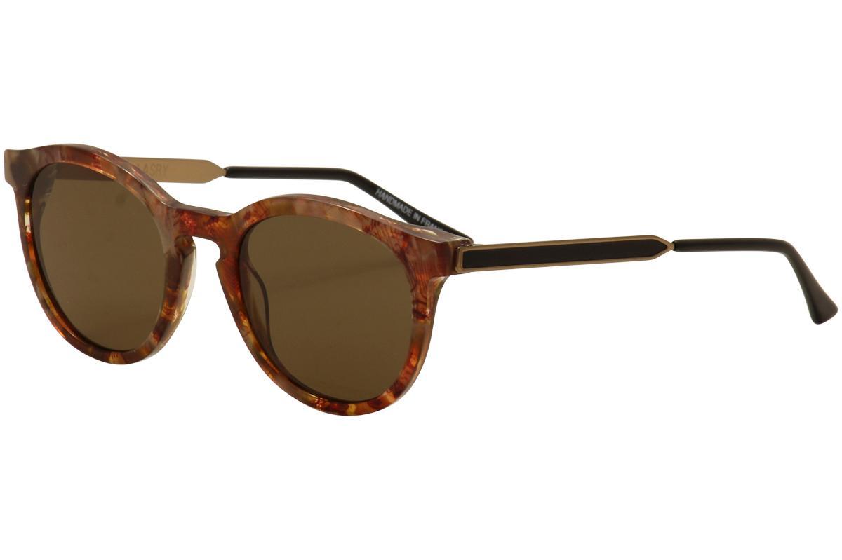 Image of Thierry Lasry Women's Boundary Fashion Sunglasses - Caramel Ivory Multi Black Gold/Brown   V634 - Lens 52 Bridge 23 Temple 140mm