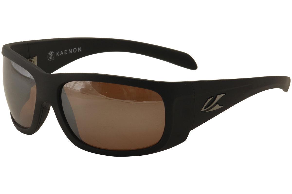 Image of Kaenon Polarized Cliff 035 Sunglasses - Matte Black/SR 91 Copper Silver Mirror   G12  - Lens 63 Bridge 17 Temple 125mm