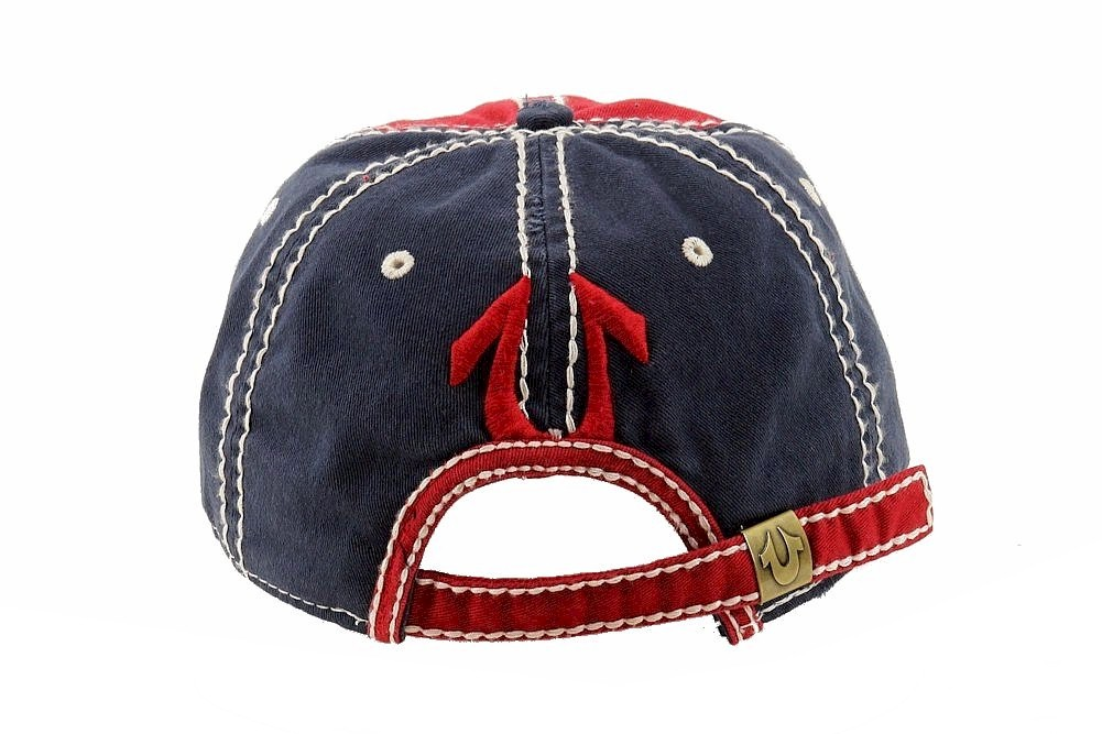 True Religion Men s Printed Adjustable Cotton Baseball Hat by True Religion 5871da29fbbe
