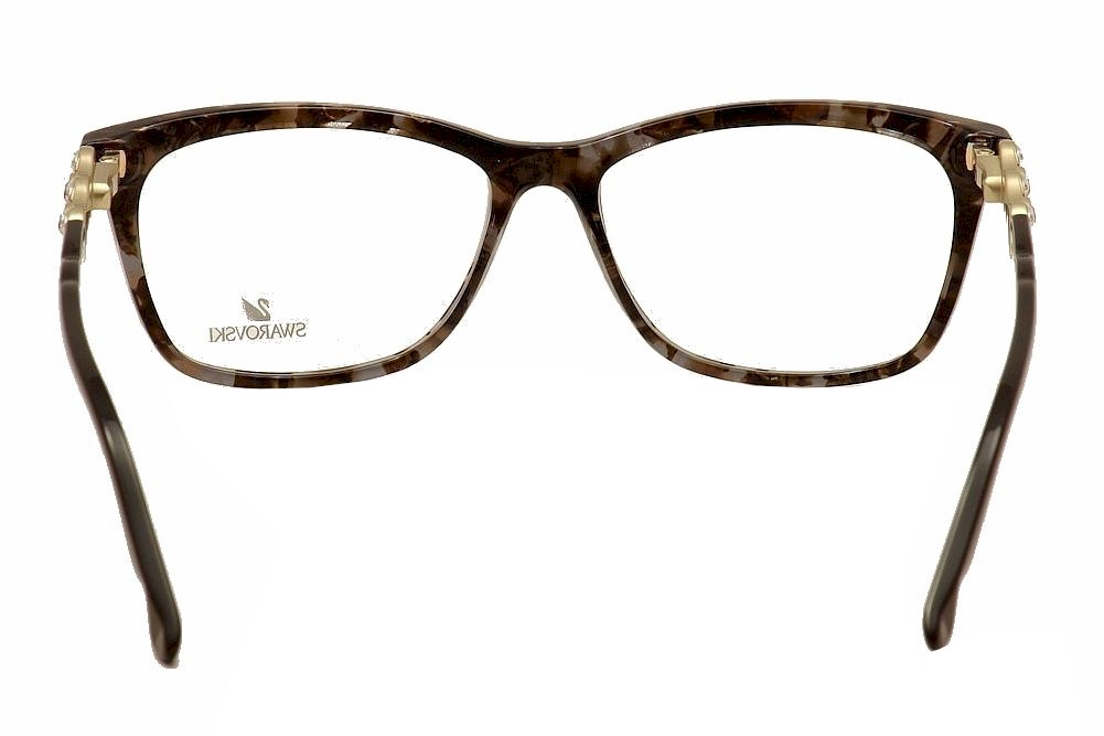 daniel swarovski womens eyeglasses fancy sw5133 sw5133 full rim optical frame health beautyvision careeyeglass frames