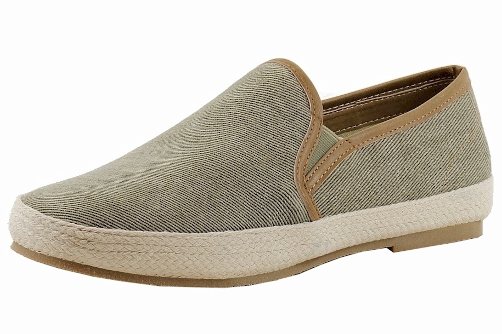 Image of GBX Men's Dlux Fashion Slip On Loafers Shoes - Green - 9