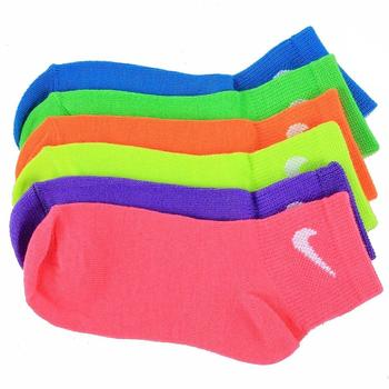 Nike Little Girl's 6-Pair Quarter Performance Sport Socks UPC: