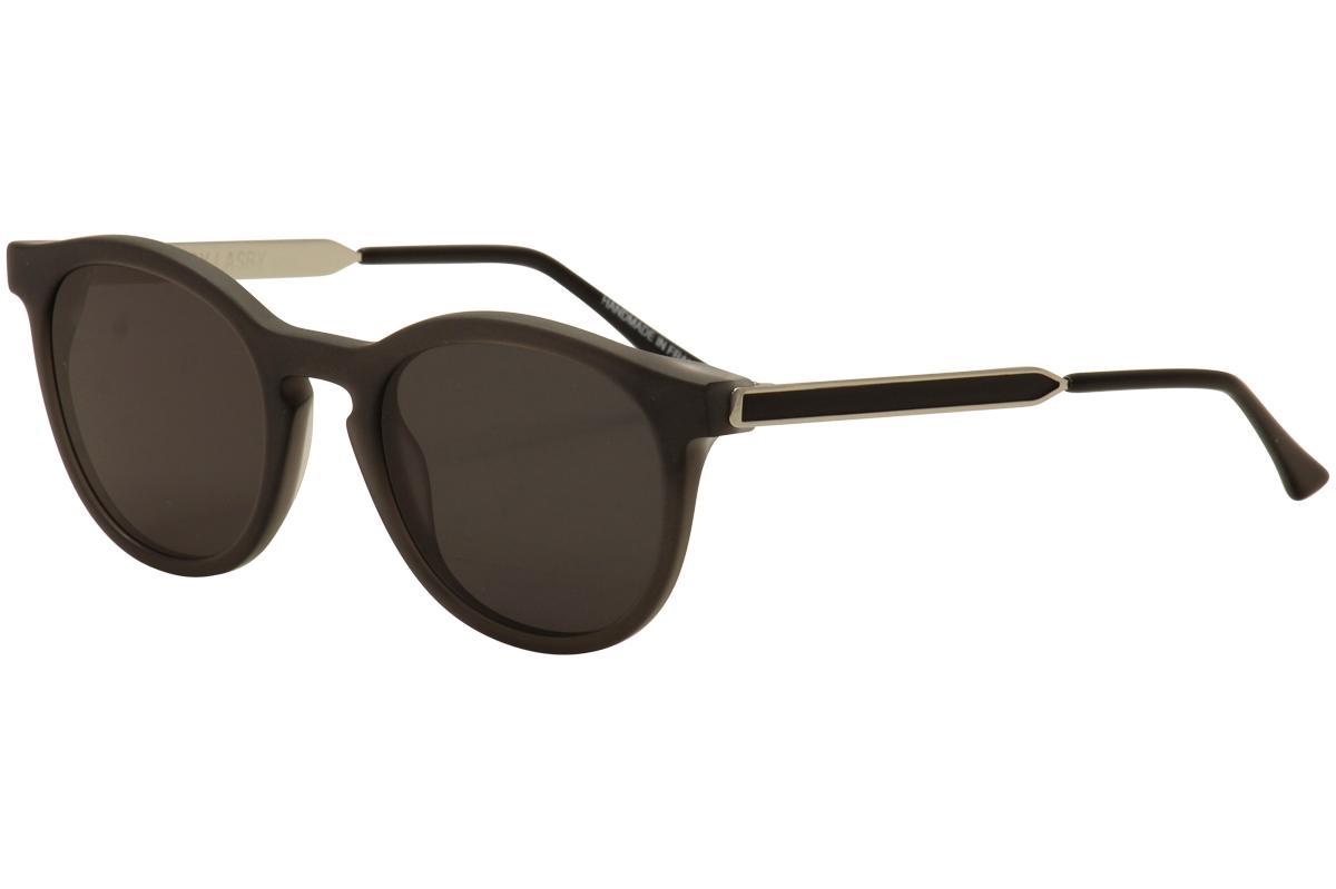 Image of Thierry Lasry Women's Boundary Fashion Sunglasses - Matte Grey Silver/Grey   185 - Lens 52 Bridge 23 Temple 140mm