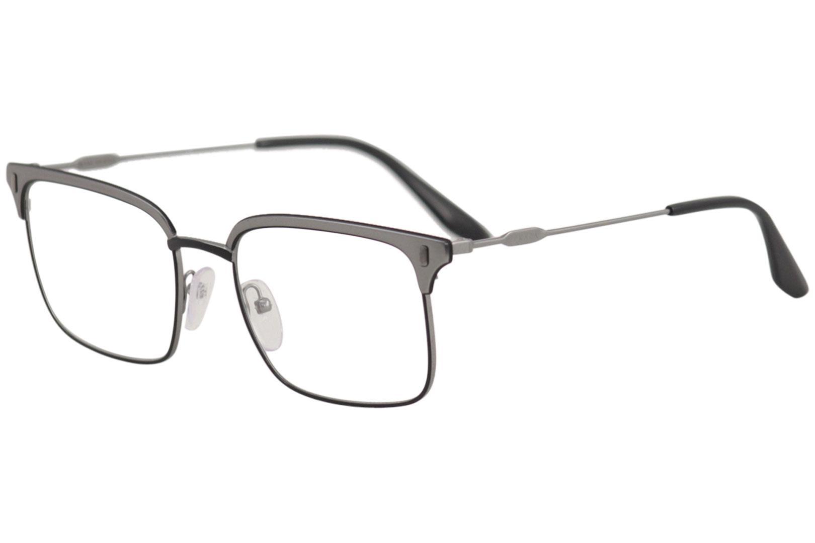 12016b38f6 Prada Eyeglasses VPR55V VPR 55 V 278 1O1 Matte Black Gunmetal ...