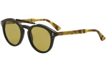 Gucci Men's GG0124S GG/0124/S Round Sunglasses