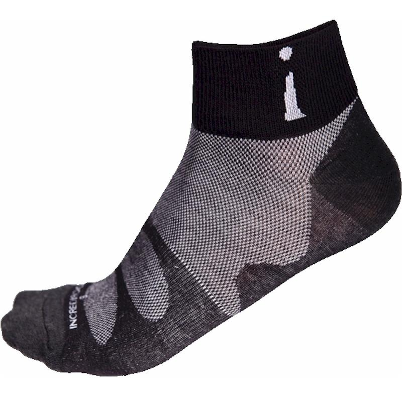 Image of Incrediwear Pro 3 Thin Sport Ankle Socks - Black - Large; Men 9.5 12/Women 10 13