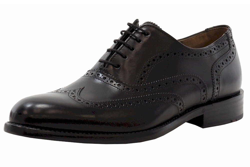 Image of Lloyd Men's Lowell Leather Brogue Fashion Oxfords Shoes - Black - 9.5 D(M) US