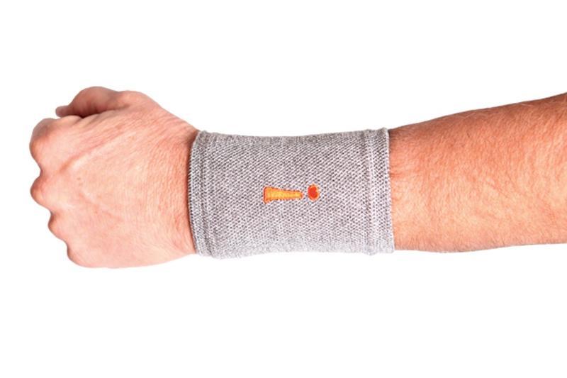 Image of Incrediwear Therapeutic Fabric Wrist Hand Brace - Grey - Large