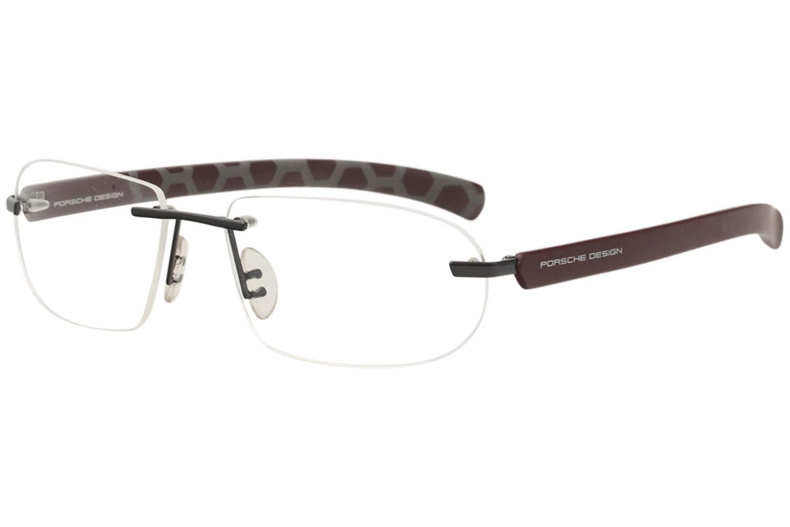 6dcec120294 Porsche Design Men s Eyeglasses P8202 P 8202 Rimless Titanium Optical Frame
