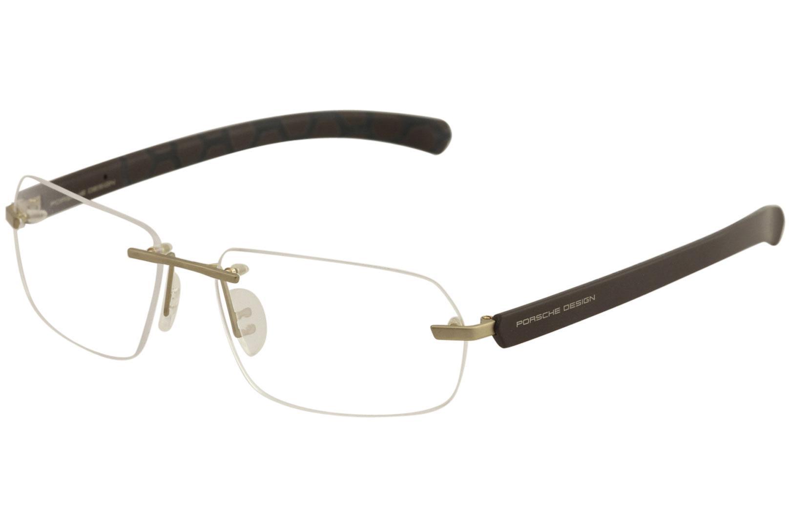 f0f729c3b0 Porsche Design Men s Eyeglasses P8202 P 8202 Rimless Titanium Optical Frame  by Porsche Design. Touch to zoom