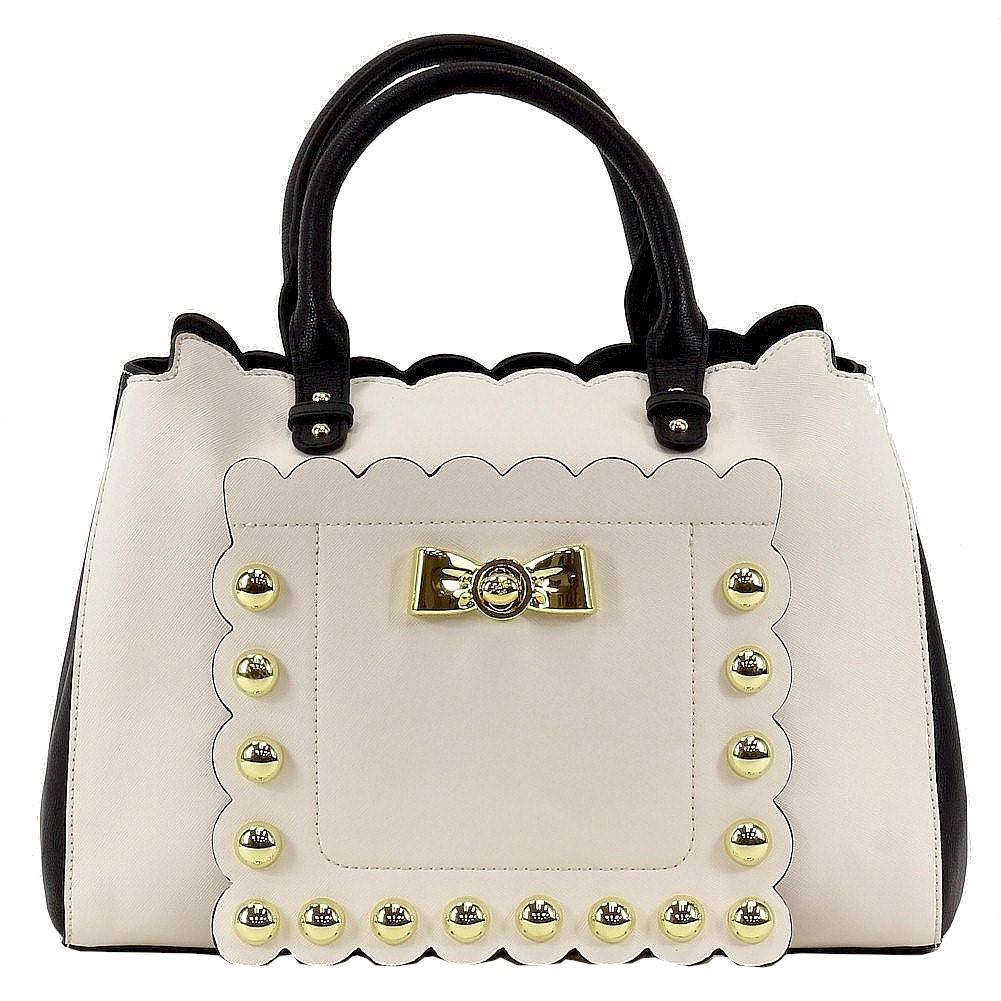 Betsey Johnson Women S Studded Affair Satchel Handbag