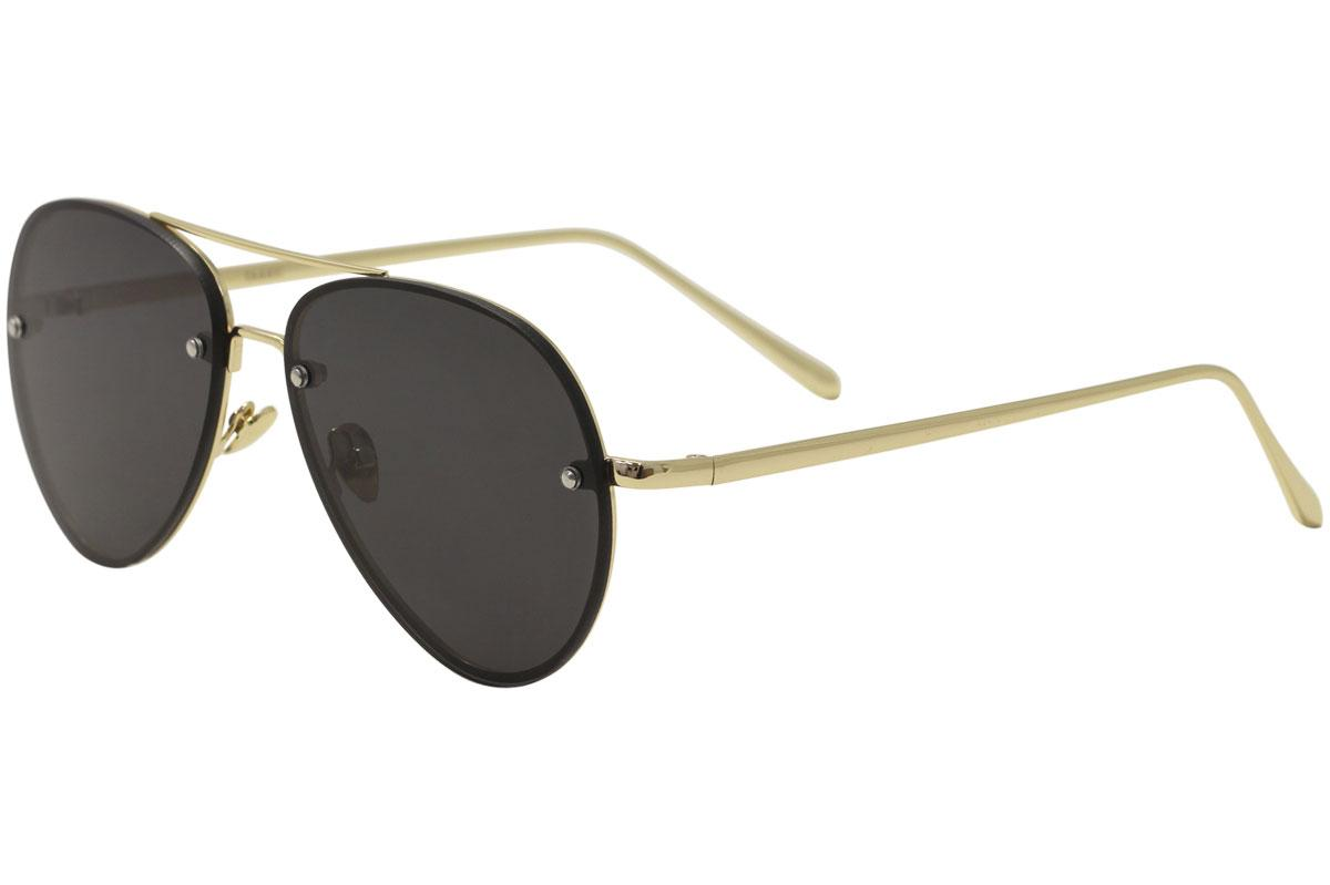 Image of Yaaas! 3027 Pilot Sunglasses - Gold/Black   A - Lens 65 Bridge 16 Temple 140mm