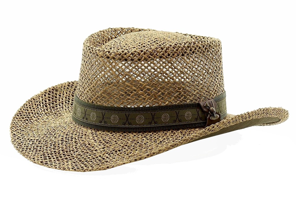 Scala Pro Men s Twisted Seagrass Straw Gambler Hat 2a7aaf55fde5